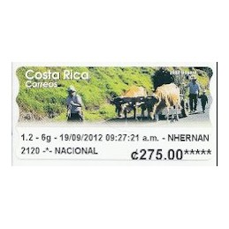 COSTA RICA (2012). Boyero - Datamax. ATM nuevo
