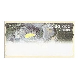 COSTA RICA (2005).  Volcán Irazú. Etiqueta en blanco