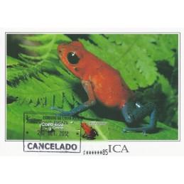 COSTA RICA (2005). Rana Roja Venenosa. Tarjeta máxima