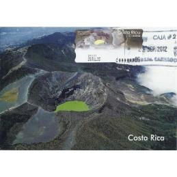 COSTA RICA (2005). Volcán Irazú. Tarjeta máxima