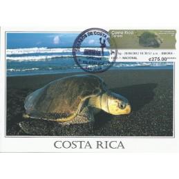 COSTA RICA (2012). Tortuga Lora - Datamax. Tarjeta máxima