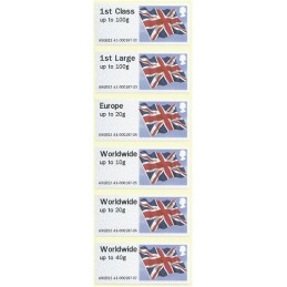 R. UNIDO (2012). Union flag - STAMPEX A9GB12 A1. Serie 6 val.