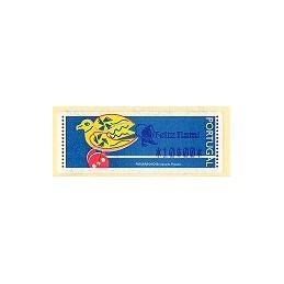 PORTUGAL (1996). Passarinho (2). ATM (10$00 Feliz Natal)
