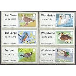 R. UNIDO (2012). Pájaros (3) - 000000 0. Serie 6 val. (ERROR)