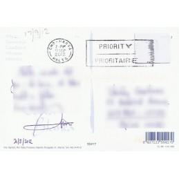 ESPAÑA  (2012). Easy Post. Tarjeta postal (via Malta - negro)