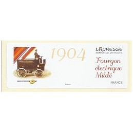 FRANCIA (2012).  Adresse - Fourgon Mildé. Etiqueta en blanco