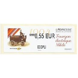 FRANCIA (2012). Adresse - Fourgon Mildé. ATM nuevo (0,55 ECOPLI)