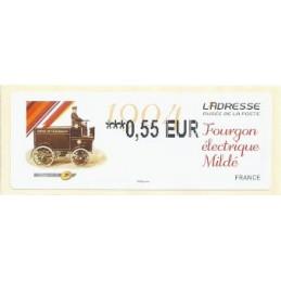 FRANCIA (2012). Adresse - Fourgon Mildé. ATM nuevo (0,55)