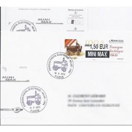 FRANCIA (2012). Adresse - Fourgon Mildé. Sobre P.D. (MINI MAX)