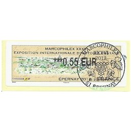 FRANCIA (2012). Marcophilex XXXVI Epernay. ATM (0,55), mat. P.D.