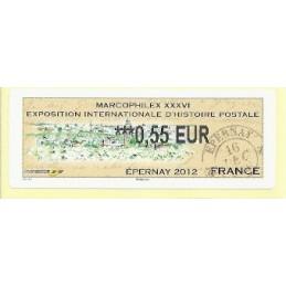 FRANCIA (2012). Marcophilex XXXVI Epernay. ATM nuevo (0,55)