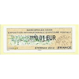 FRANCIA (2012). Marcophilex XXXVI Epernay. ATM nuevo (0,01)