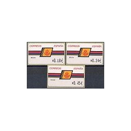 ESPAÑA. 4.2.4. Emblema postal - OVELAR. EUR-4E. Serie 3 val.