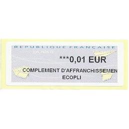FRANCIA (2012). Aviones papel - WINCOR. ATM nuevo (0,01 EC)
