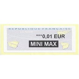 FRANCIA (2012). Aviones papel - WINCOR. ATM nuevo (0,01 MM)