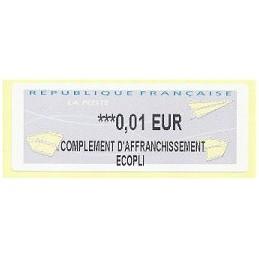 FRANCIA (2012). Aviones papel - IER LISA 2. ATM nuevo (0,01 EC)