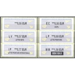 FRANCIA (2012). Aviones papel - IER LISA 2. Serie 6 val.