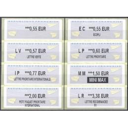 FRANCIA (2012). Aviones papel - IER LISA 2. Serie 8 val.