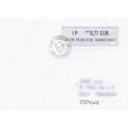 FRANCIA (2012). Aviones papel - IER NABUCCO. Sobre (España)