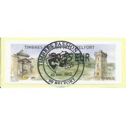 FRANCIA (2012). Timbres Passion Belfort. ATM (0,55), mat. P.D.