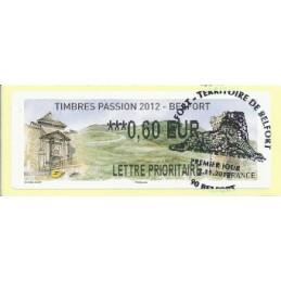 FRANCIA (2012). Timbres Passion Belfort. ATM (0,60), mat. P.D.