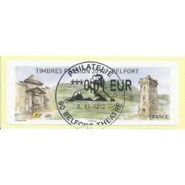 FRANCIA (2012). Timbres Passion Belfort. ATM (0,01), mat. oficin
