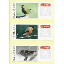 DINAMARCA (2012).  Pájaros Dinamarca (2). Etiquetas en blanco