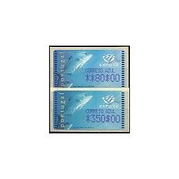 PORTUGAL (1998). EXPO 98 - Amiel $. Serie 2 val. (C. AZUL)