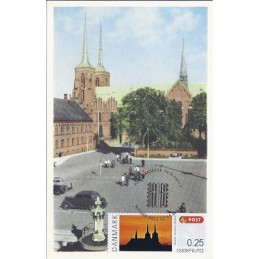 DINAMARCA (2012). Catedral Roskilde. Tarjeta máxima (Nordia)