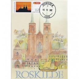 DINAMARCA (2012). Catedral Roskilde. Tarjeta máxima (Roskilde)