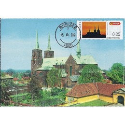 DINAMARCA (2012). Catedral Roskilde. Tarjeta máxima (Roskilde) *