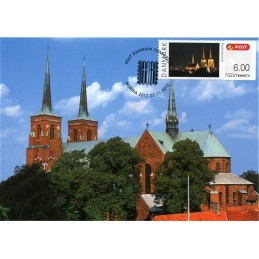 DINAMARCA (2012). NORDIA 2012 Roskilde. Tarjeta máxima (catedral
