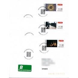 DINAMARCA (2012). NORDIA 2012 - Roskilde. Sobres P.D. España (B)