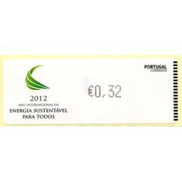 PORTUGAL (2012).  Energia - CROUZET negro. ATM nuevo