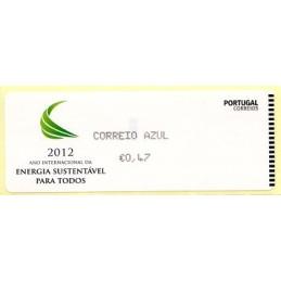 PORTUGAL (2012).  Energia - CROUZET negro. ATM nuevo (C. Azul)