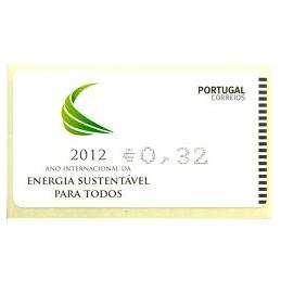 PORTUGAL (2012). Energia - AMIEL negro. ATM nuevo