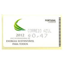 PORTUGAL (2012). Energia - AMIEL negro. ATM nuevo (C. Azul)