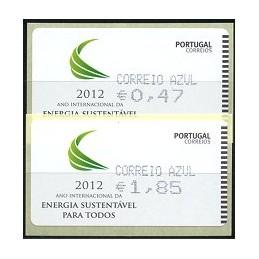 PORTUGAL (2012). Energia - AMIEL negro. Serie 2 val. (C. Azul)