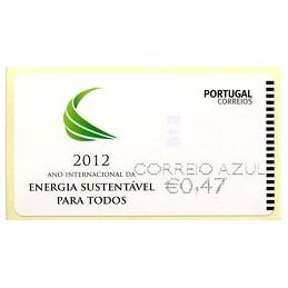 PORTUGAL (2012). Energia - NEWVISION negro. ATM nuevo (C. Azul)