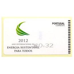 PORTUGAL (2012). Energia - SMD negro. ATM nuevo