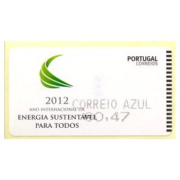 PORTUGAL (2012). Energia - SMD negro. ATM nuevo (C. Azul)