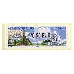 FRANCIA (2012). 66 Salon - Andorra - LISA 2.  ATM nuevo (0,55)