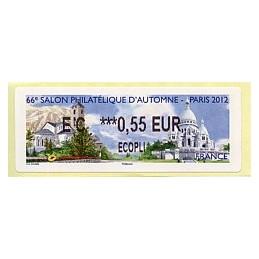 FRANCIA (2012). 66 Salon - Andorra - LISA 2.  ATM nuevo (EC 0,55