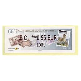 FRANCIA (2012). 66 Salon - Sellos - LISA 2.  ATM nuevo (EC 0,55)