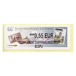 FRANCIA (2012). 66 Salon - Sellos - LISA 2. ATM nuevo (0,55 CA)