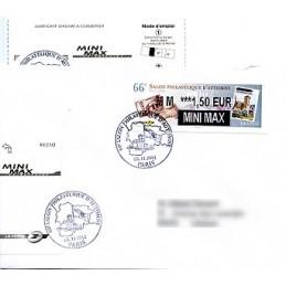 FRANCIA (2012). 66 Salon - Sellos - LISA 2. Sobre P.D. (MINI M)