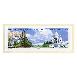 FRANCIA (2012). 66 Salon - Andorra - LISA 1. Etiqueta en blanco