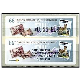 FRANCIA (2012). 66 Salon - Sellos - LISA 1. ATM (0,55) + rec.