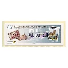 FRANCIA (2012). 66 Salon - Sellos - LISA 1. ATM nuevo (0,55)