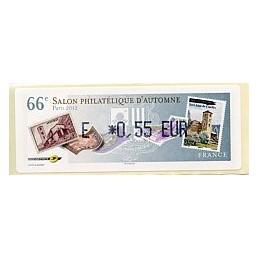 FRANCIA (2012). 66 Salon - Sellos - LISA 1. ATM nuevo (E 0,55)